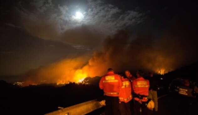 Incendio en Islas Canarias