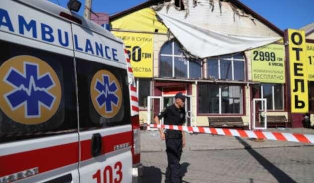 Incendio en Ucrania