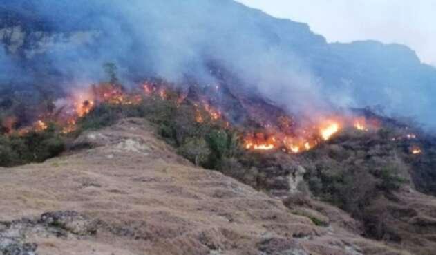 El incendio fue reportado desde el pasado lunes.
