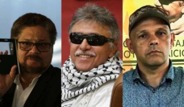 Iván Márquez, Jesús Santrich y el Paisa