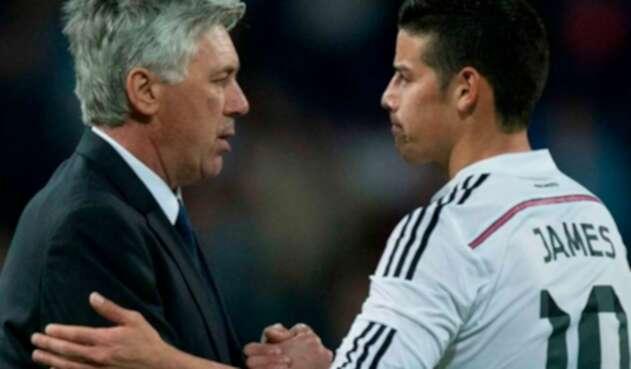 James Rodríguez y Carló Ancelotti tienen una amistad