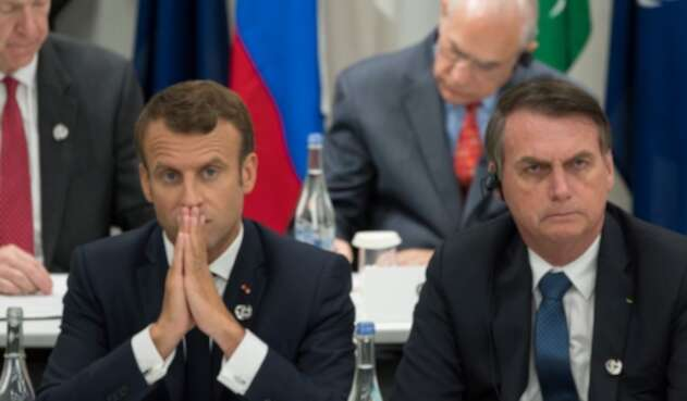Emmanuel Macron y Jair Bolsonaro