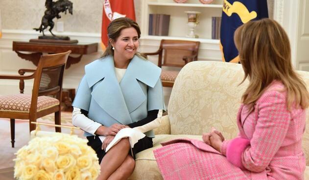 María Juliana Ruiz y Melania Trump