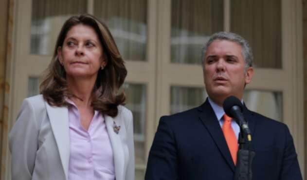 Marta Lucía Ramírez e Iván Duque, vicepresidenta y presidente de la República, respectivamente