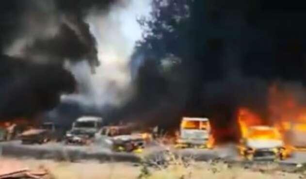Carros quemados ecuador quito