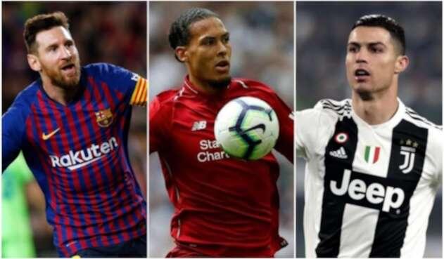 Messi, Van Dijk y Cristiano Ronaldo