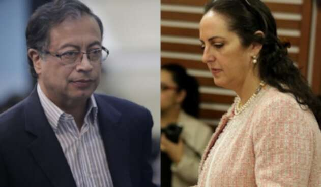 Gustavo Petro y María Fernanda Cabal