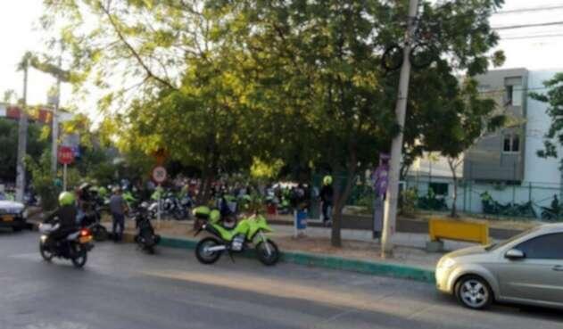 Policía en Barranquilla