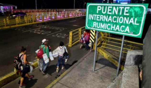 internacional de Rumichaca, frontera con Ecuador
