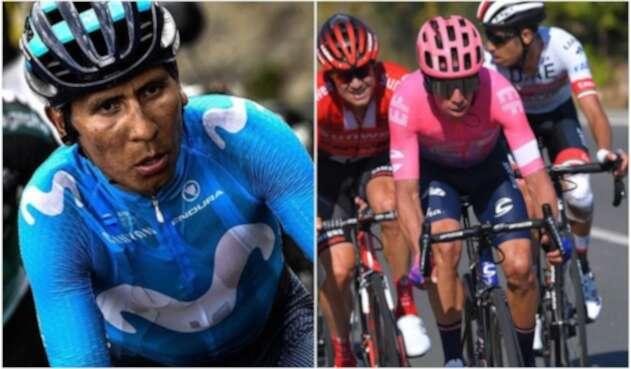 Nairo Quintana y Rigoberto Urán, ciclistas colombianos