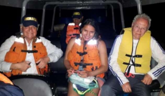El científico colombiano estuvo varios minutos varado en el río amazonas.