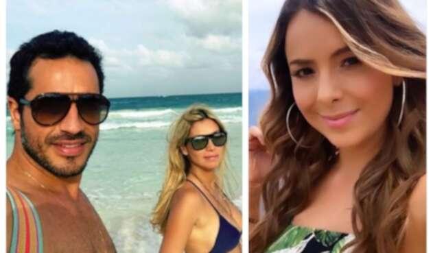 Sandra Mazuera y Pedro Palacio con su exnovia