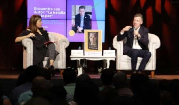 El expresidente Juan Manuel Santos, fue uno de los invitados a Ulibro 2019.