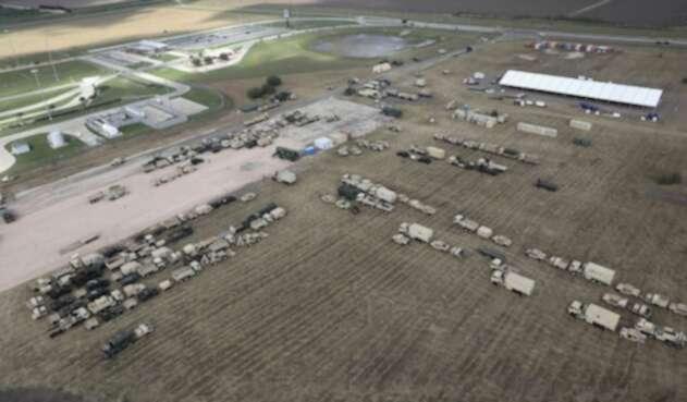 Tropas estadounidenses instaladas en Donna, Texas