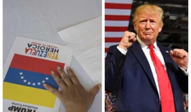 Colecta de firmas promovida por el régimen venezolano contra Trump.