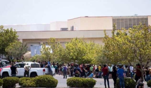 Parqueadero del Wal-Mart en donde ocurrió la masacre en Texas