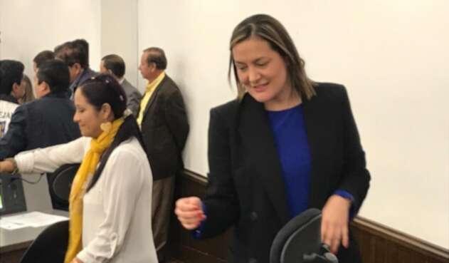 Ángela Garzón abandona el Concejo de Bogotá.