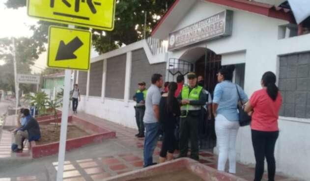 Falsa amenaza en colegio de Barranquilla.