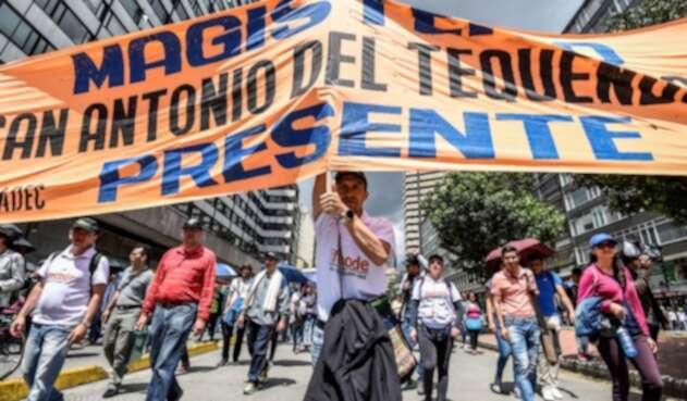 Paro de maestros en Colombia