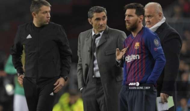 Valverde y Messi - FC Barcelona