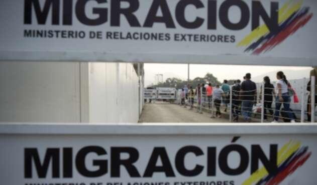 Migración en la frontera entre Colombia y Venezuela.