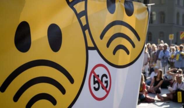 Protesta contra tecnología 5G