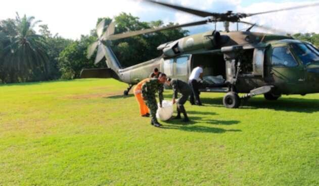 Fuerzas Militares en acción en Cartagena del Chairá (Caquetá)