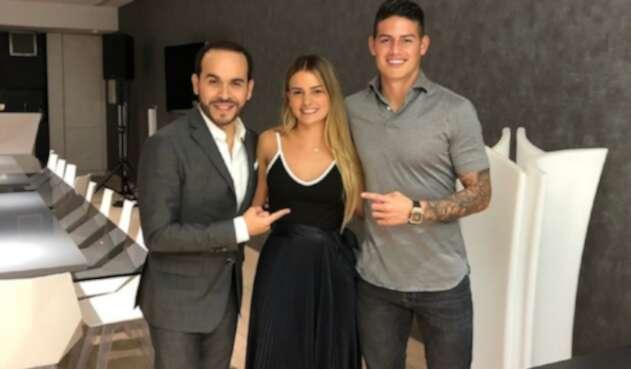 Abelardo de la Espriella, Ana Lucía Pineda y James Rodríguez