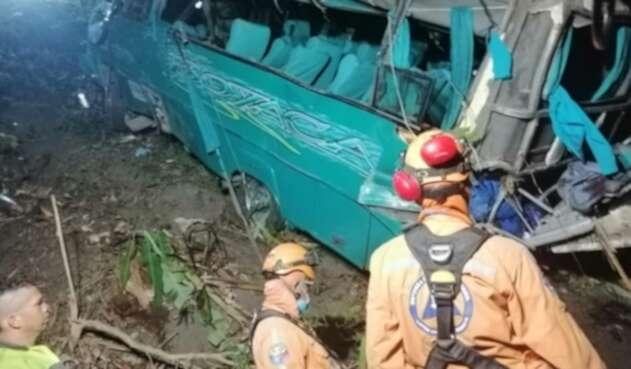 Accidente en la vía Ibagué - Cajamarca