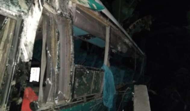 Accidente de tránsito en vía Ibagué - Cajamarca