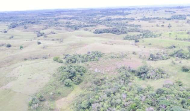 Panorámica de zonas de deforestación en el Caquetá