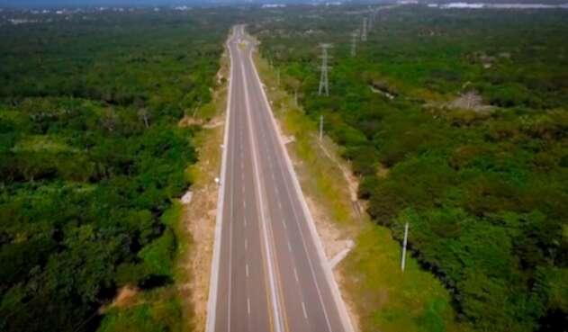 Una de las vías que en la Costa Caribe conduce a Barranquilla