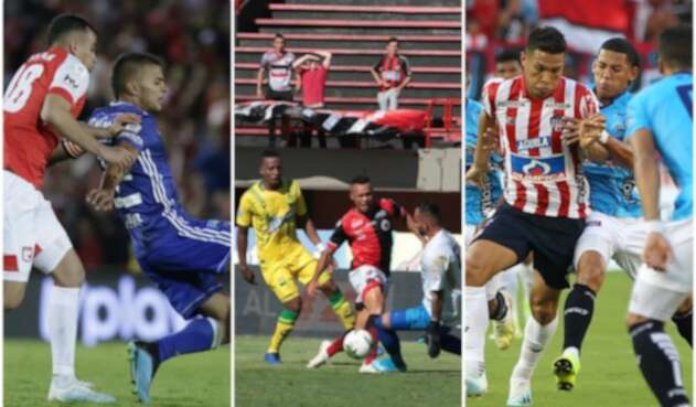 Santa Fe vs Millonarios, Cúcuta vs Bucaramanga y Junior vs Unión Magdalena