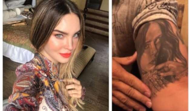 Lupillo se tatuó rostro de Belinda