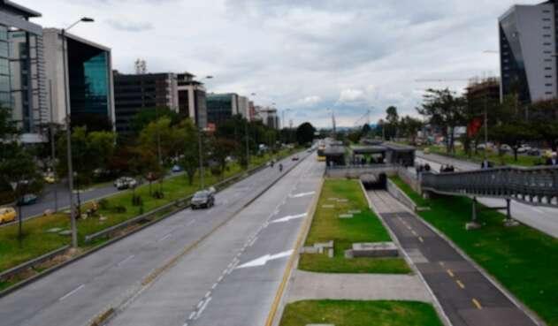 La calle 26, en Bogotá