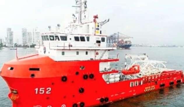 El buque ARC Caribe varado en Cartagena