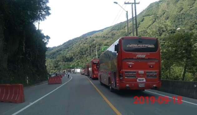 Buses vía al Llano
