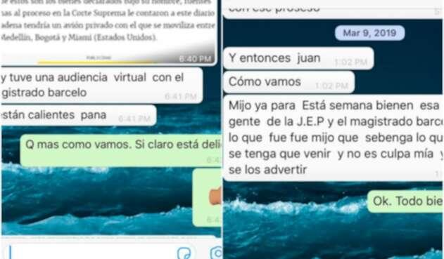 Los chats de Carlos Enrique Vélez