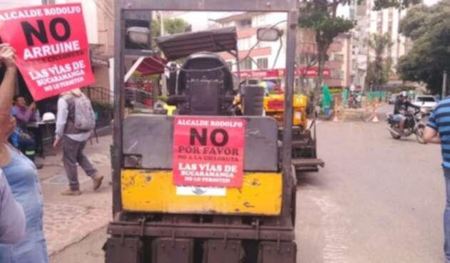 La movilidad está reducida en varias vías de la ciudad por el proyecto.