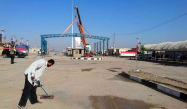 Paso fronterizo entre Siria e Irak