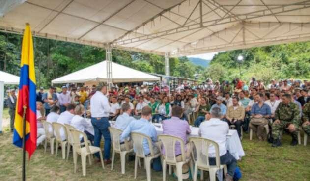 El presidente Iván Duque en Miravalle (Caquetá)