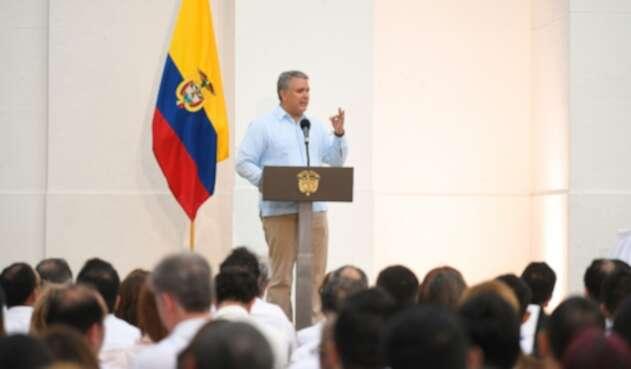 El presidente Iván Duque en Santa Marta