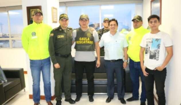 Benito Eduardo Valerezo, ciudadano ecuatoriano rescatado