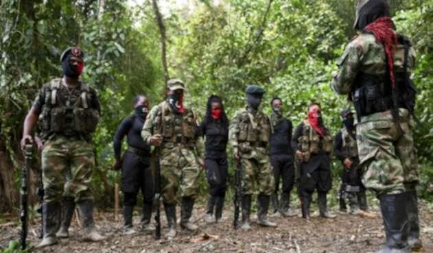 Guerrilleros del ELN en selva de Chocó.