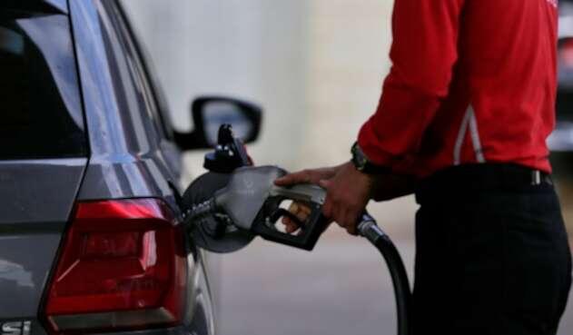 Una estación de gasolina en Bogotá