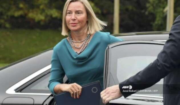 Federica Mogherini, canciller Unión Europea