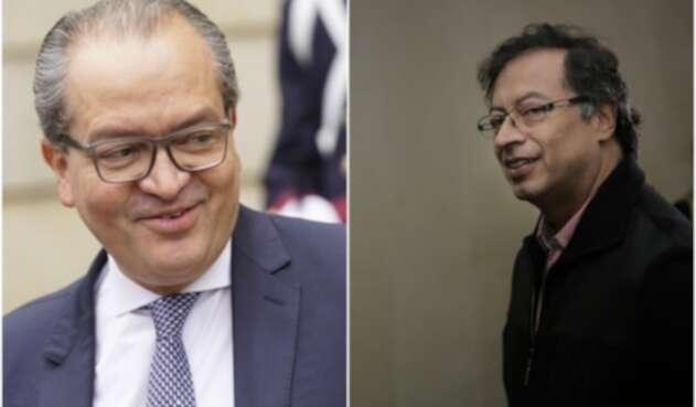 Fernando Carrillo y Gustavo Petro, procurador y senador, respectivamente