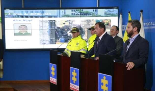 Fabio Espitia, fiscal general encargado, hablando de la red de expendedores de droga desmantelada en Bogotá