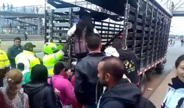 Paro de transportadores en Soacha y Bogotá