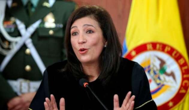 La magistrada Gloria Ortiz, presidenta de la Corte Constitucional